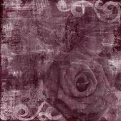 Vintage Floral Grunge Scrapbook Background with rose — Stock Photo