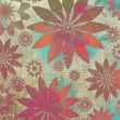 Vintage Floral Grunge Scrapbook Background — Stock Photo