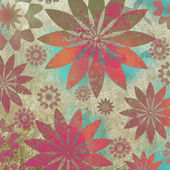 Vintage Floral Grunge Scrapbook Background — Stock Photo