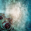 Royalty-Free Stock Photo: Grunge Beautiful Roses Background ( 1 of set)