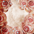 Grunge Beautiful Roses Background ( 1 of set) — Stock fotografie