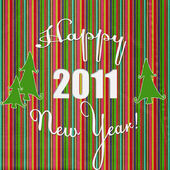 Happy New Year against striped background — Stock Photo