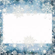 Abstract winter background with snowflakes and place for text — Stock Photo #4412375