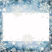 Abstract winter background with snowflakes and place for text — Stock Photo