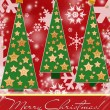 Red christmas card - Stockfoto