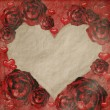 Red grunge roses frame — Stockfoto #4459694