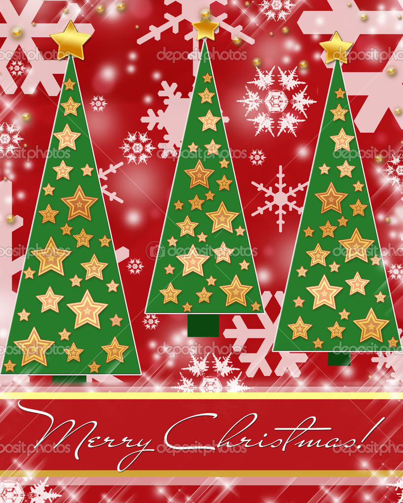 Illustration showing a christmas greetings image  — Foto Stock #4451164