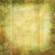 Grunge yellow - green background with swirl border - Stock Photo