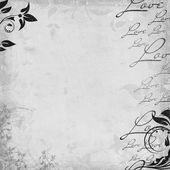 Romantic vintage background in scrapbook style (1 of set) — Photo