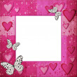 Royalty-Free Stock Photo: Pink   frame with hearts for design