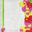 Stock Photo: Valentine background with hearts