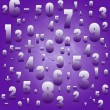 Maths numbers and signs on violet background — Stock Photo