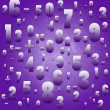 Maths numbers and signs on violet background - Stock Photo