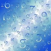 Maths numbers and signs on black background — Stock Photo