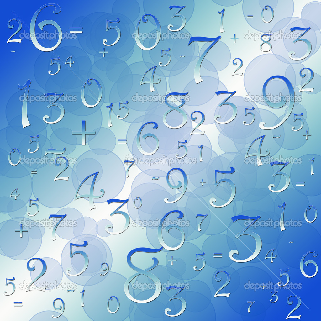 Maths numbers and signs on black background — Stock Photo #4637919
