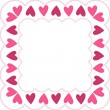 Pink frame with hearts - Stock fotografie