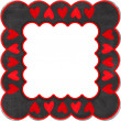 Grey frame with  red hearts -  