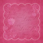 Pink background with text love — Stock Photo