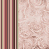 Striped colored background with roses — Stock Photo