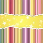 Abstract banner with stripes and stars — Stock Photo