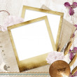 ricordi - vintage photoframe — Foto Stock