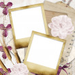 Memories - vintage photoframe - Stock Photo