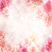 Abstract roses background — Foto Stock