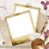 Memories - vintage photoframe — Stock Photo
