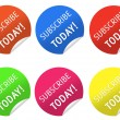 Subscribe today stickers — Stock Photo