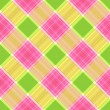 Pink, brown and green trendy seamless plaid pattern — Stock Photo