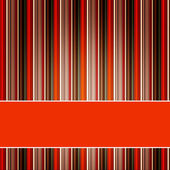 Striped Orange Background with horizontal banner — Stock Photo