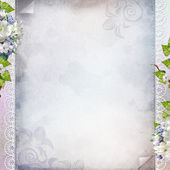 Beautiful anniversary, wedding, holiday background with spring f — Stock Photo