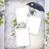 Beautiful frame for three photos — Stock Photo