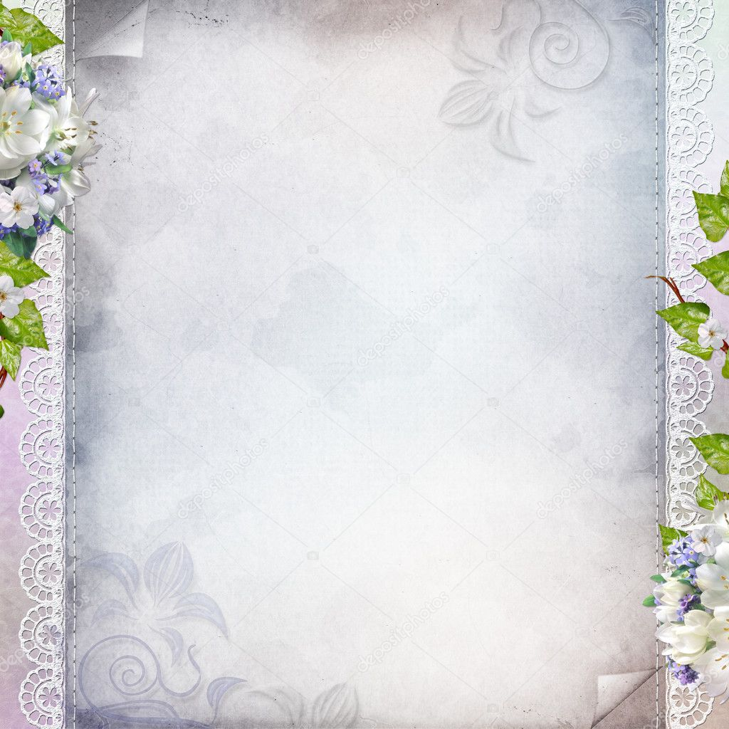 Beautiful anniversary, wedding, holiday background with spring f