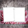 Wedding frame for photo — Stock Photo