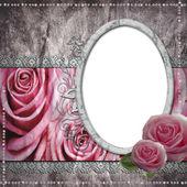 Wedding frame for photo — Stock Photo
