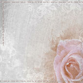 Grunge romantic background with rose and diamonds — Stock Photo