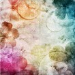 Watercolor background with flowers - Stock Photo