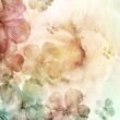 Watercolor background with flowers — Stock Photo