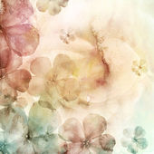 Watercolor background with flowers — 图库照片