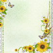 Summer background with sunflowers (1 of set) — Stock Photo