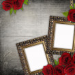 Bronzed vintage frames on old grunge background (1 of set) — Stock Photo #5375280