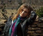 Portret van een glimlachende meisje — Stockfoto