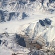Aerial view of open-pit mine under snow in Atacama desert, Chile — Stock Photo