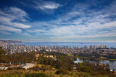 View on Vina del Mar and Valparaiso, Chile — Foto de Stock