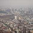 Stock Photo: Smog over Santiago, Chile, view from Cerro SCristobal