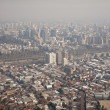 Smog over Santiago, Chile, view from Cerro San Cristobal - Stock Photo