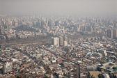 Smog over Santiago, Chile, view from Cerro San Cristobal — Stock Photo
