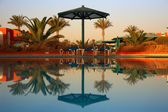 Swimming pool at morning — Stock Photo