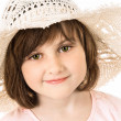 Smiling girl in a hat — Stock Photo